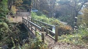 三つ峠登山道入口の橋