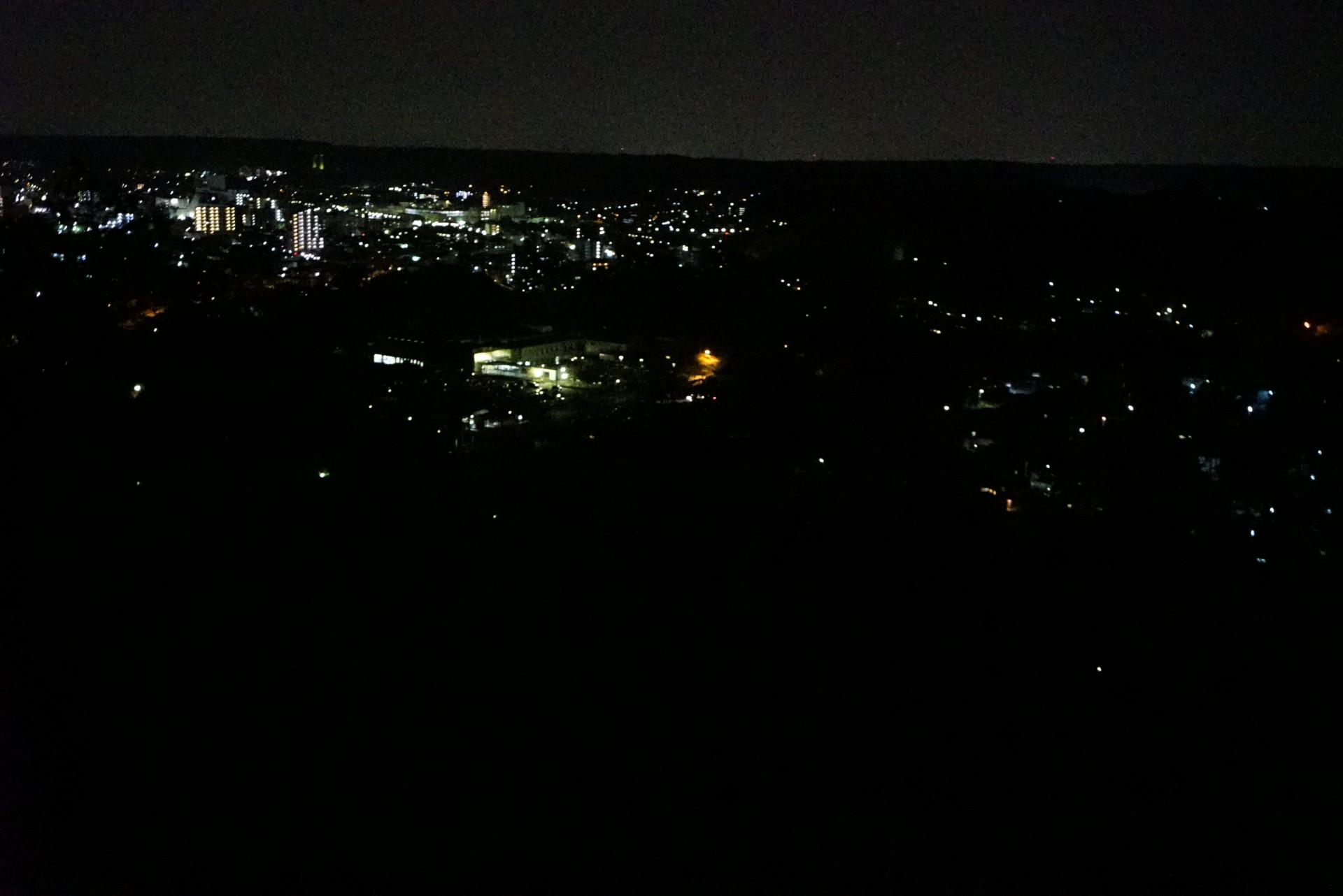 日没後の天覧山登山