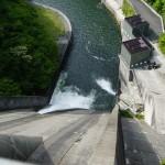 栃木県の五十里ダムへ