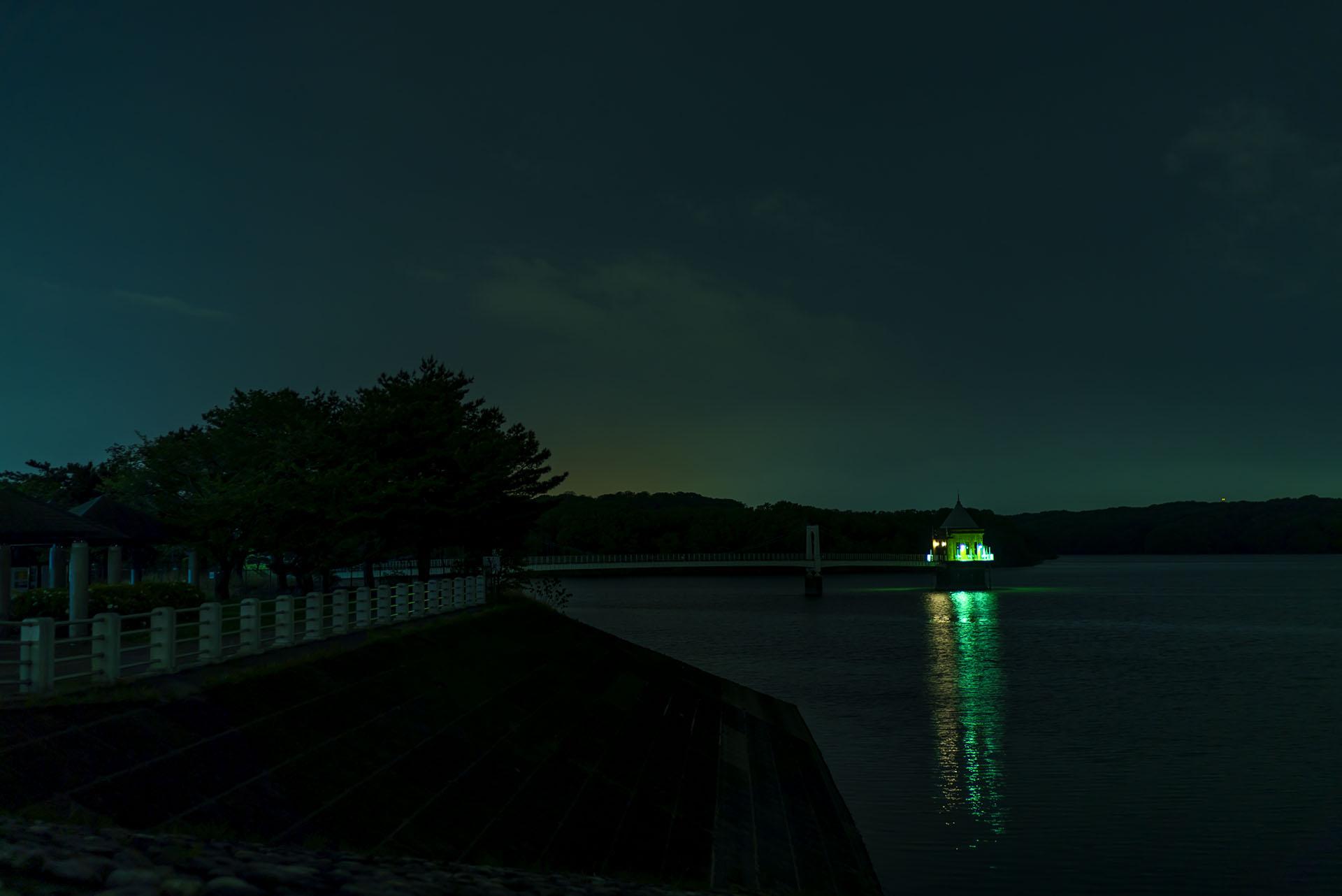 α7Sで夜の狭山湖を久々に撮影