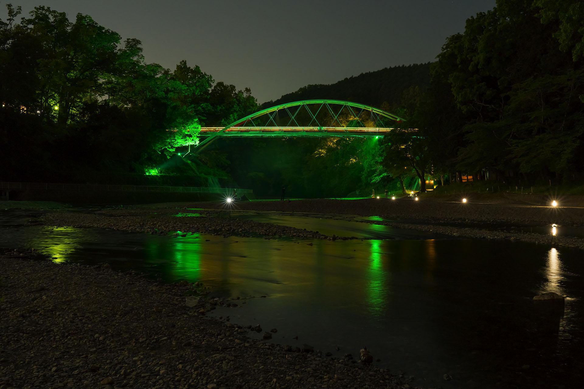 割岩橋のライトアップを初日に見てきた