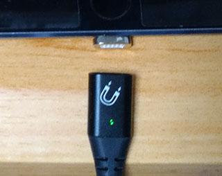 マグネット充電ケーブルへの切り換え