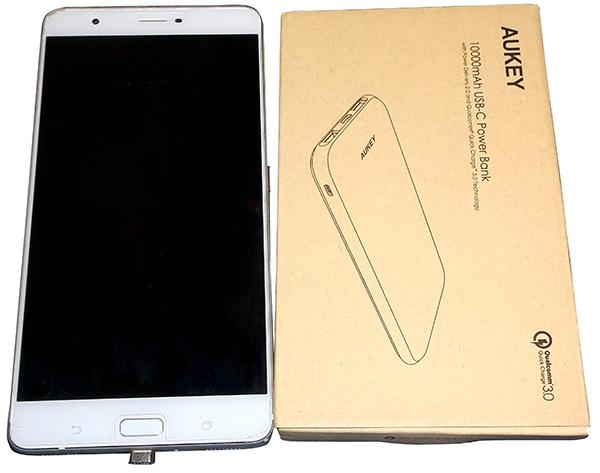 ZenFone3 Ultraをモバイルバッテリーから急速充電