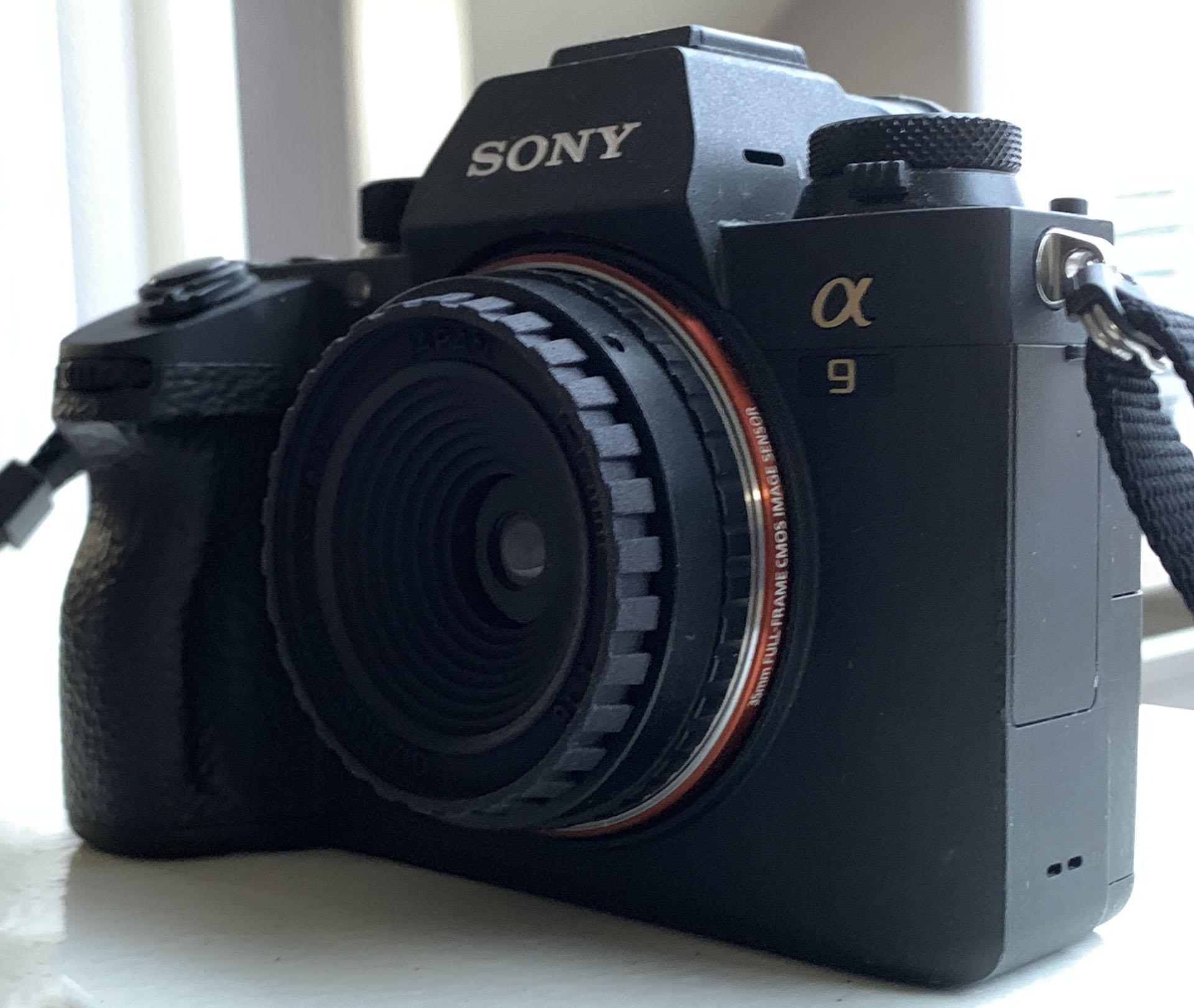Sonyのα9で「写ルンです」レンズを使うと面白い