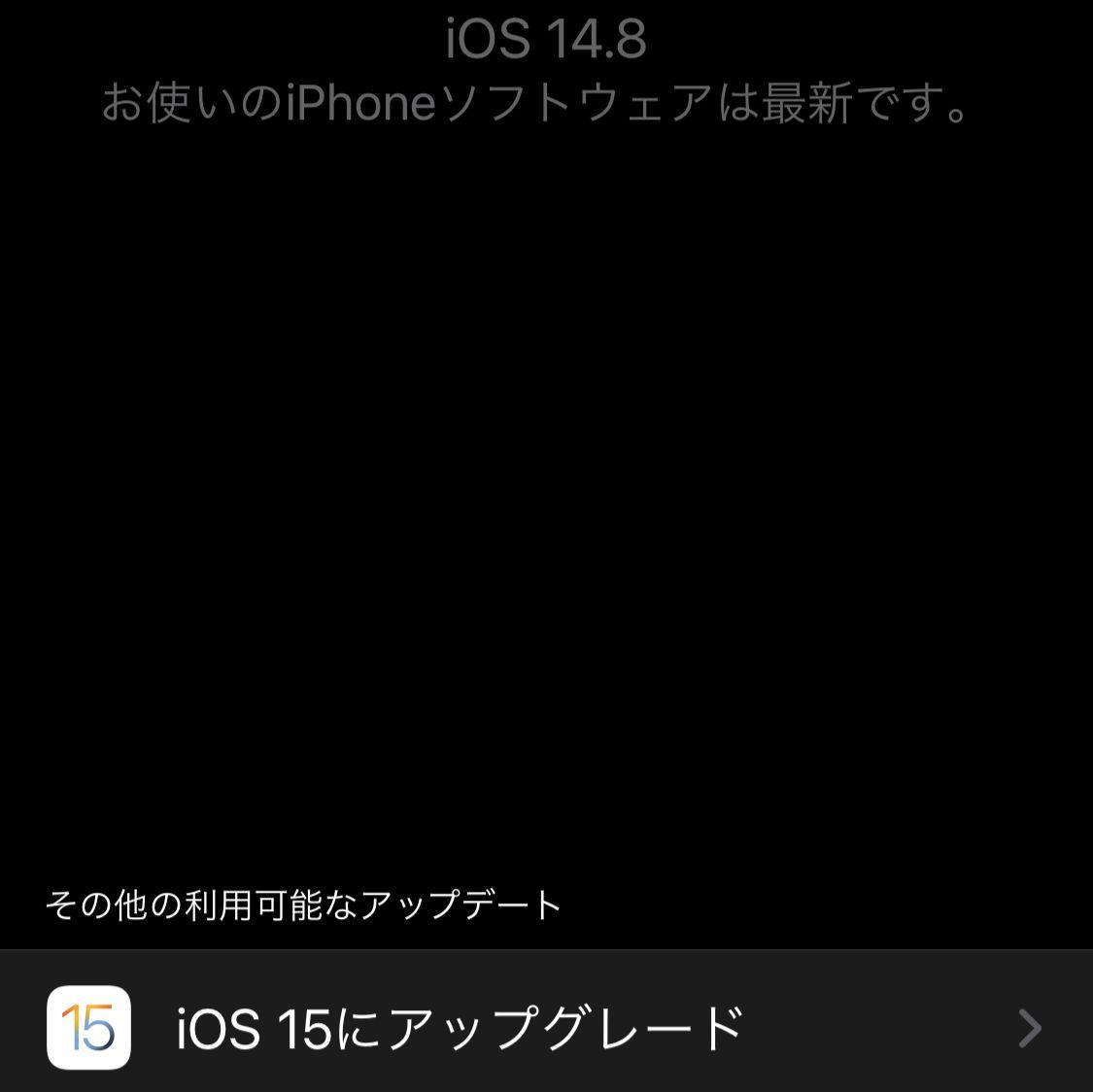 iOS 15とiPadOS 15にアップデート